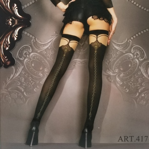 Studio Collants 417 Stunning Crisscross Thigh High Boutique